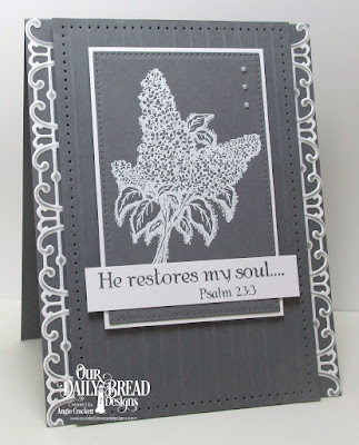 ODBD Custom Trellis Strip Die, ODBD Lilac Single, ODBD Porch, ODBD Custom Pierced Rectangles Dies, Card Designer Angie Crockett