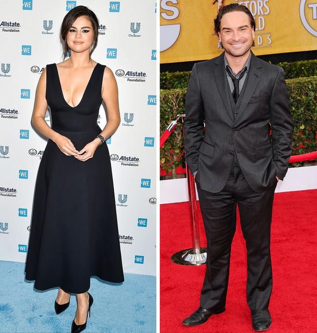 Selena Gomez e Johnny Galecki: 1,65 m