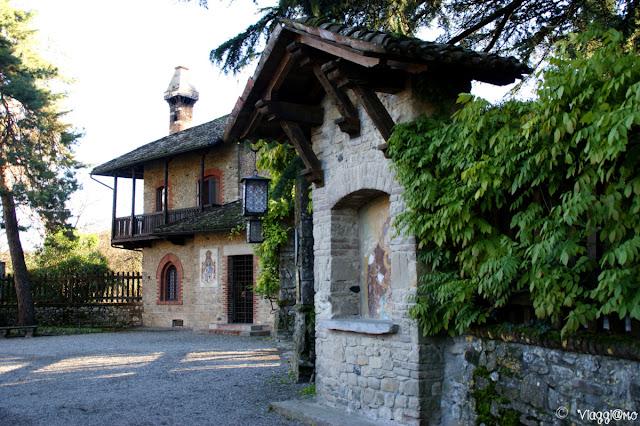 Edificio tipico del borgo di Grazzano Visconti