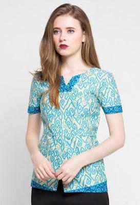 Model Baju Batik Atasan Kerja Wanita remaja