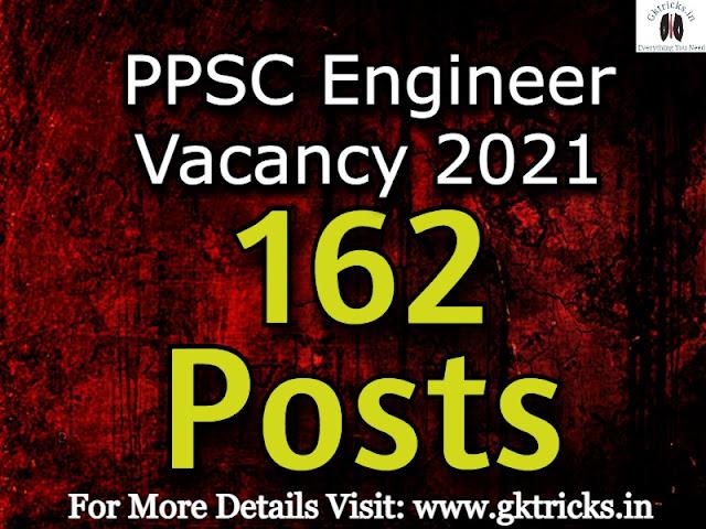 PPSC Engineer Vacancy 2021