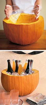 calabazas para botellas en fiesta de halloween