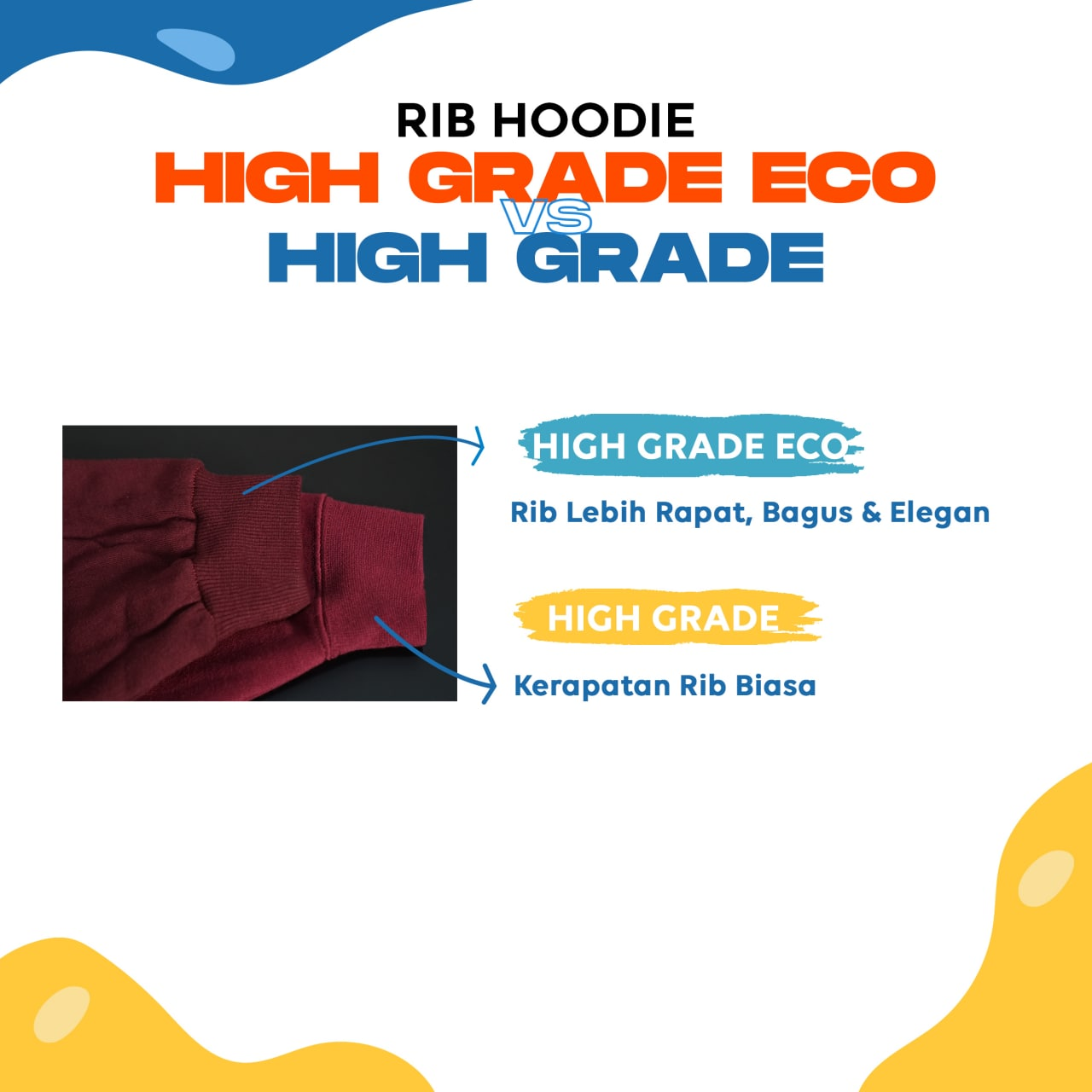 Spesifikasi Bahan Hoodie