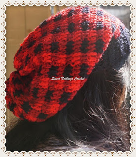 crochet plaid unisex headwear