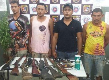 Polícia prende quatro em  plantação de maconha na cidade de  Formosa do Rio Preto