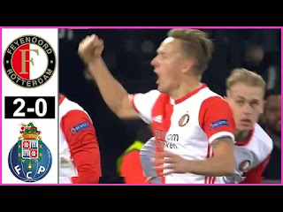 Feyenoord Vs FC Porto 2-0 All Goals And Match Highlights [MP4 & HD VIDEO]