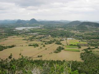 Cerro Galano, vista del Valle de Santa Rosa