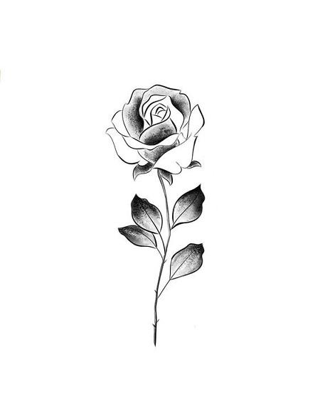 Gambar tato bunga mawar