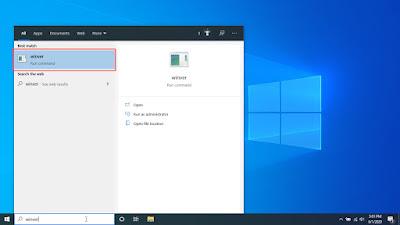 cek versi windows