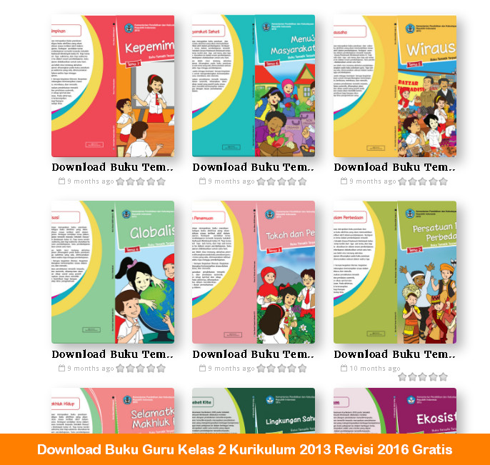 Download Buku Guru Kelas 2 Kurikulum 2013 Revisi 2016 Gratis