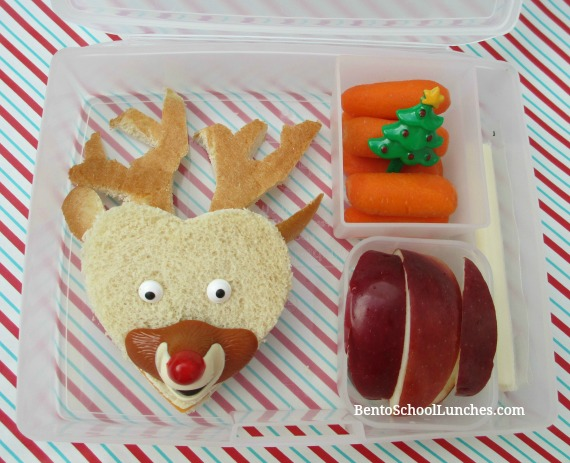 Rudolph The Red Nosed Reindeer Bento Lunch. Christmas