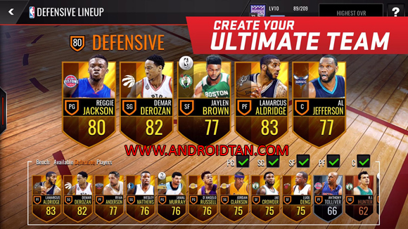Free Download NBA Live Mobile Mod Apk (Unlimited Money) Android v1.3.3 Terbaru 2017