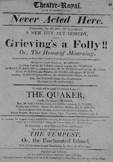 Playbill from Scotland