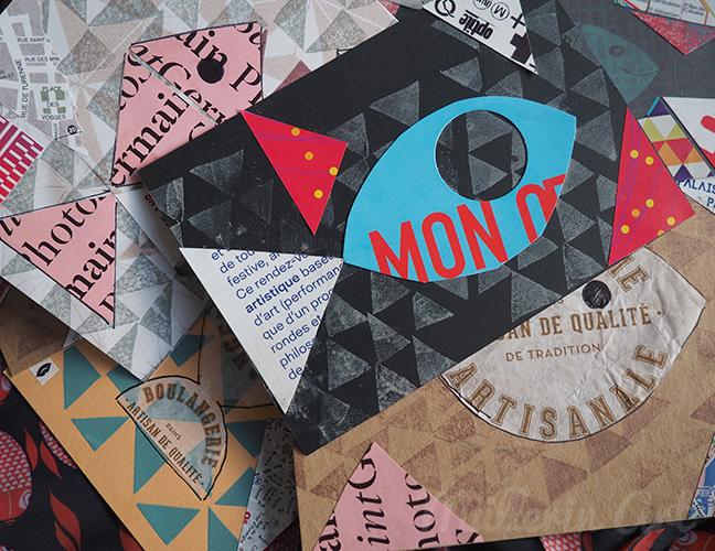 Fischpostkarten Collage ©muellerinart
