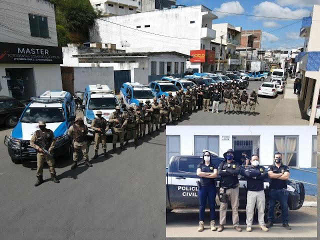Jaguaquara: PC e PM cumprem doze mandados de busca e conduzem cinco