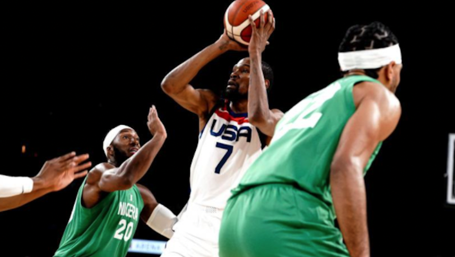 Photo de Kevin Durant face au Nigera, Team USA
