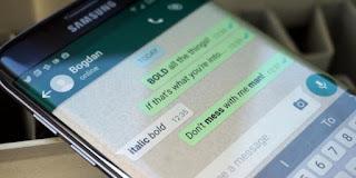 Mengubah Huruf tebal dan Miring Whatsapp