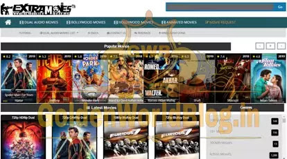 ExtraMovies – Hindi Dubbed Hollywood, Bollywood 300MB Movies Download