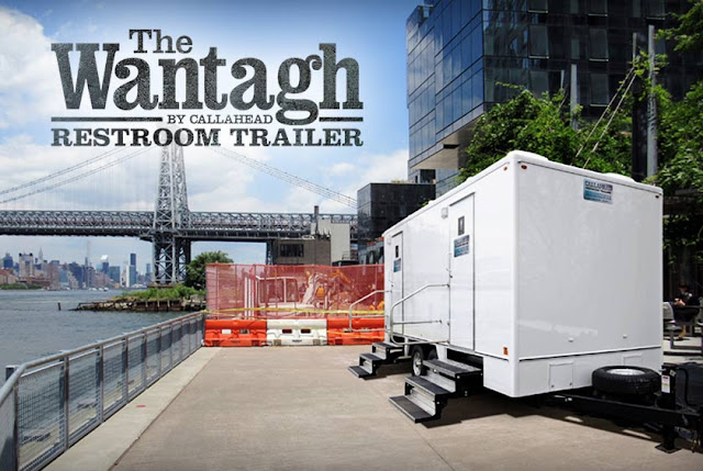 Wantagh restroom trailer for Construction