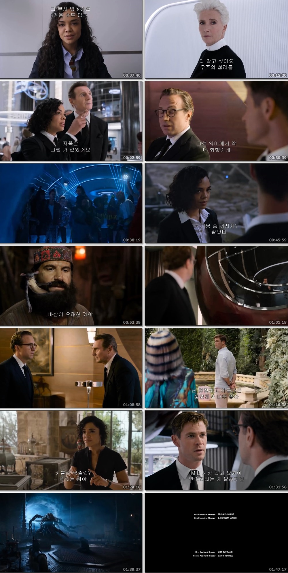 Screen Shot Of Men in Black: International 2019 In Hindi English Dual Audio Bluray