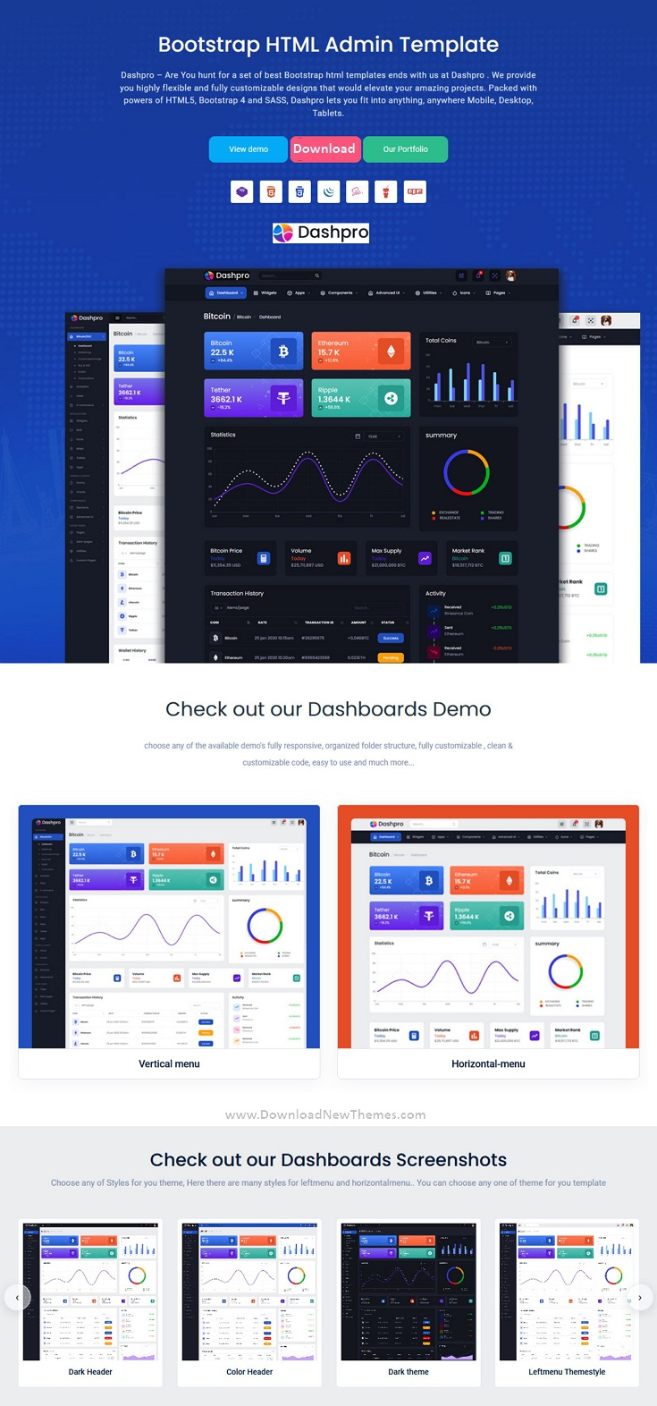 Bootstrap HTML Admin Template