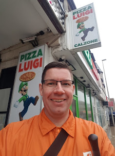 At the Pizza Luigi takeaway in Blackpool