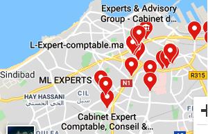 Localisation des cabinets des experts comptables a Casablanca