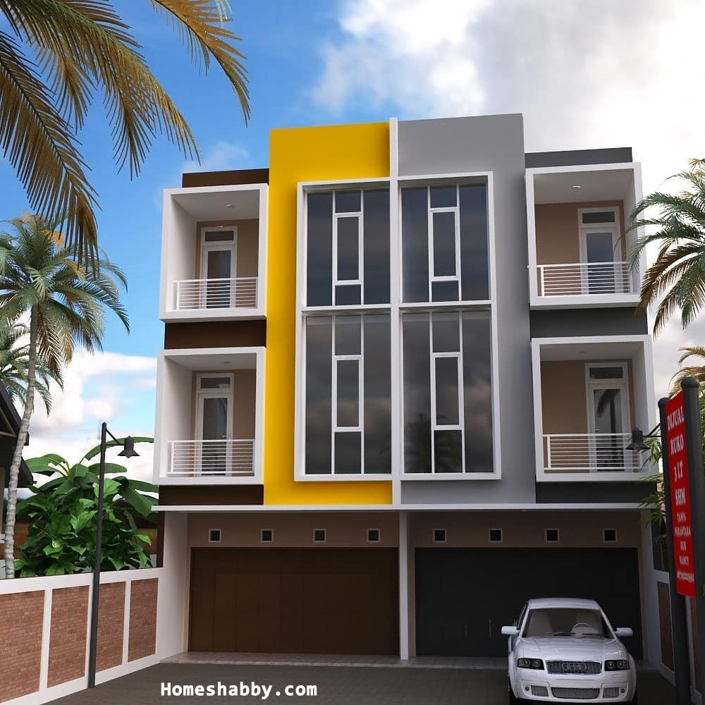 Kumpulan Desain Rumah Toko Lantai 2 dan Lantai 3 Terbaru ...