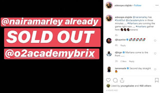 Naira Marley Sells Out 02 Academy Arena In 3 Minutes For Marlian Fest
