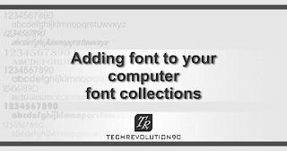 Menambahkan Koleksi Font Komputer
