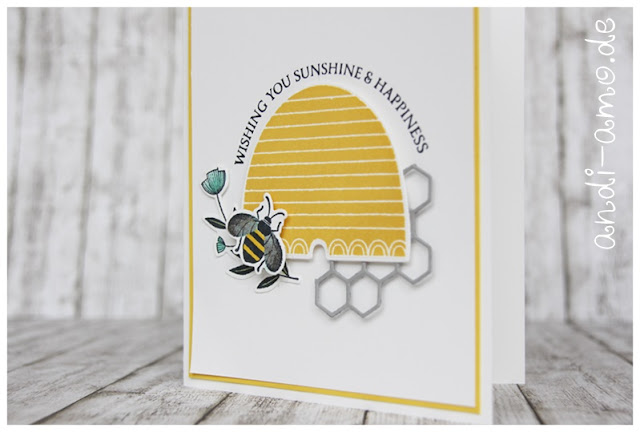Stampin Up Honey Bee Stanzformen Bienenstock
