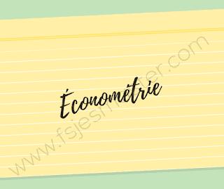 Cours Économétrie pour les étudiants inscrits en S5