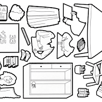 Gambar Mewarnai Tas Sekolah Anak Peralatan