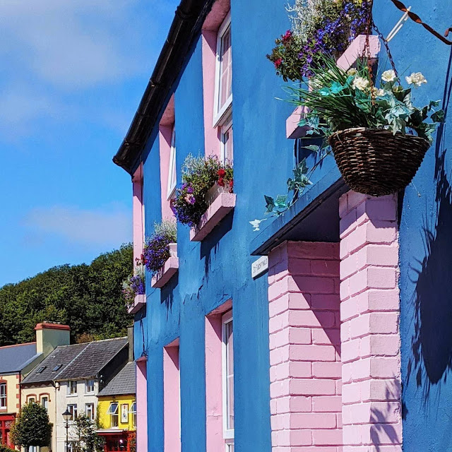 Blue and Pink Facade in Rosscarbery West Cork Ireland