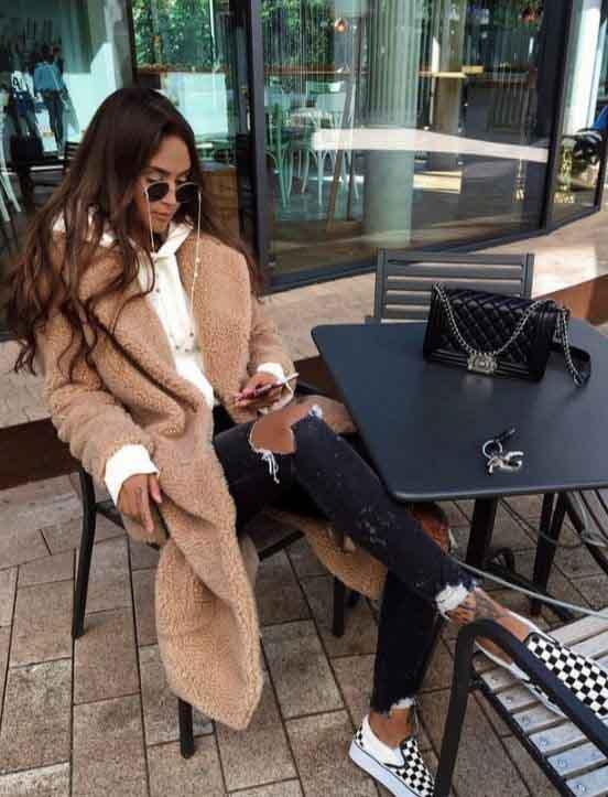 Inspirações de looks com casaco teddy bear