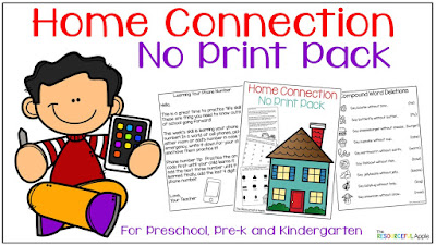 Home Connection Learning Activities for Preschool, Pre-K and Kindergarten