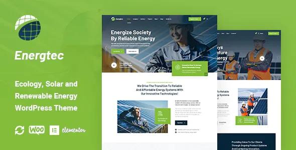 Best Solar and Wind Energy WordPress Theme