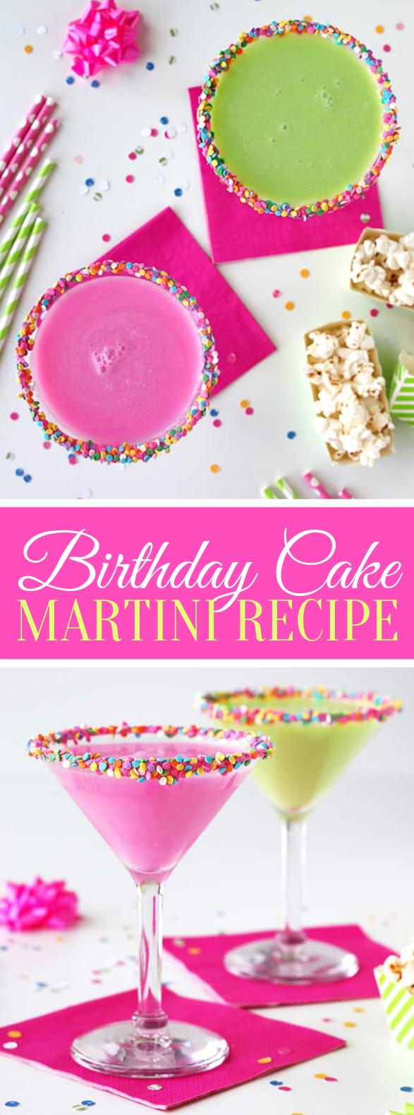 Birthday Cake Martini #drinks #cocktails #partydrink #birthdayrecipes #kidfriendly