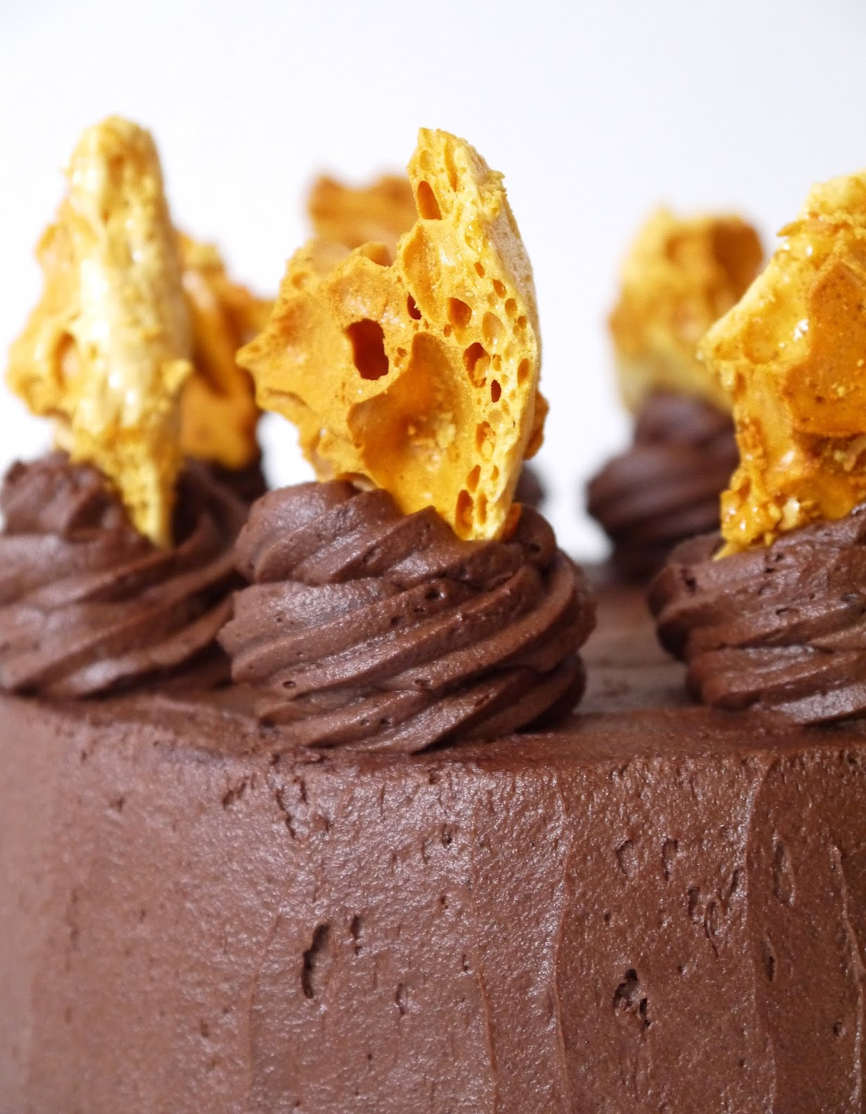 The Betty Stamp The Best Honeycomb Chocolate Cake Crunchie Recipe