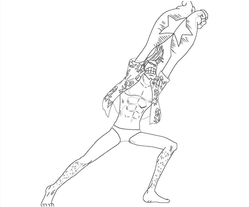 Printable One Piece Franky Coloring Pages