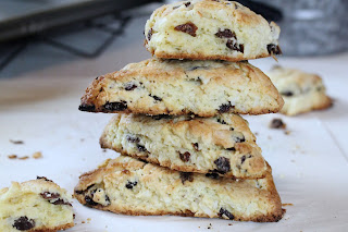 Small Batch Rum Raisin Coconut Scones