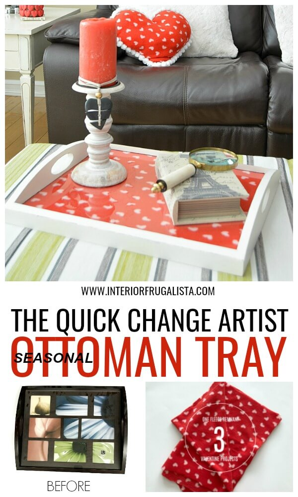 The Quick Change Artist Seasonal Ottoman Tray