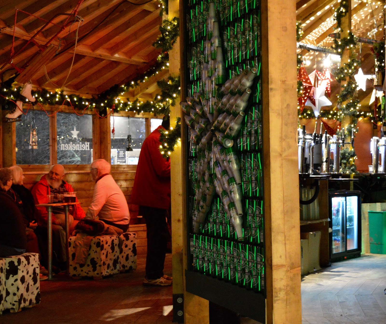 10 Reasons to Visit Edinburgh in December - Scandanavian bar near ice rink