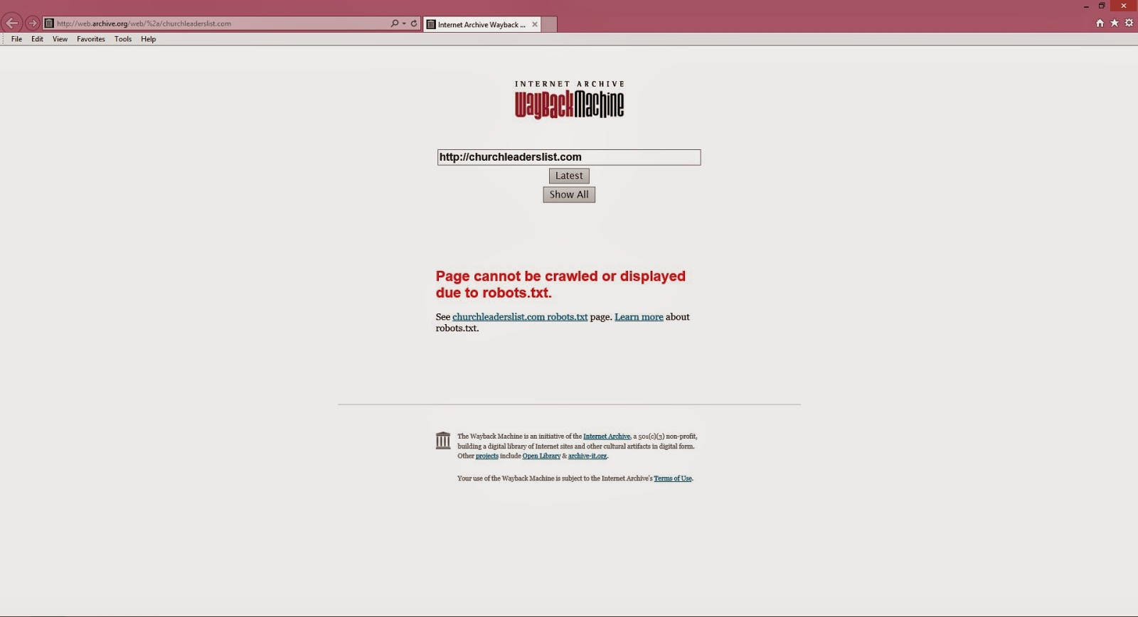 WenatcheeTheHatchet: WayBack Machine Results For