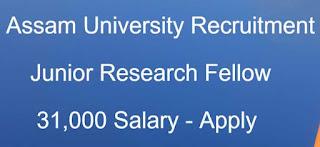 Sarkari Naukri Assam 2020: Assam University Recruitment For Junior Research Fellow Post | Sarkari Jobs Adda