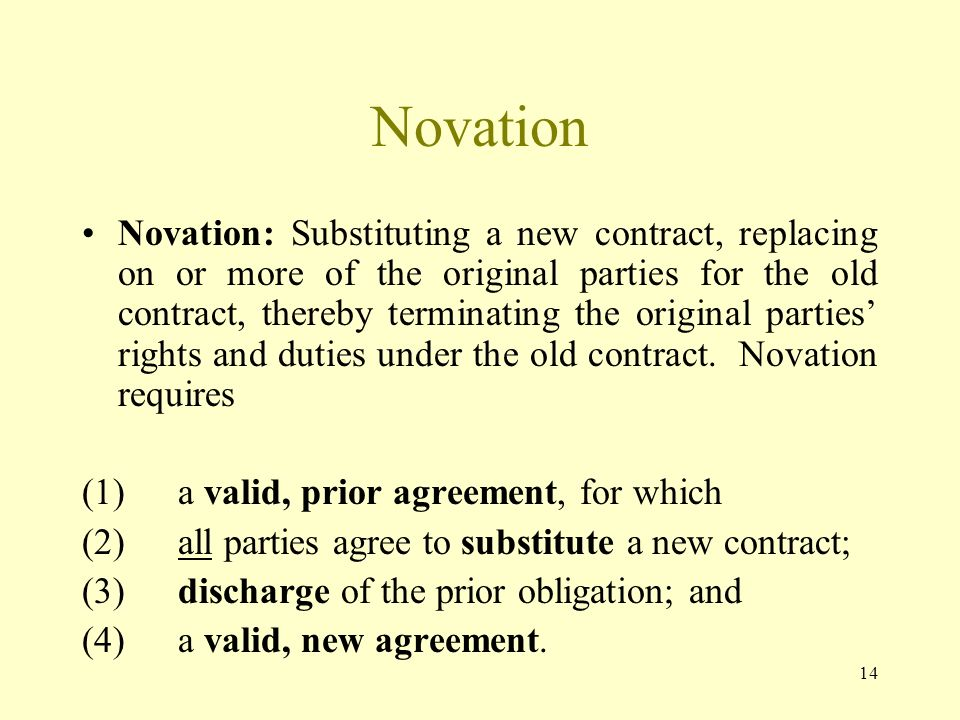 Law Web What Is Basic Concept Of Novation Sub Silentio