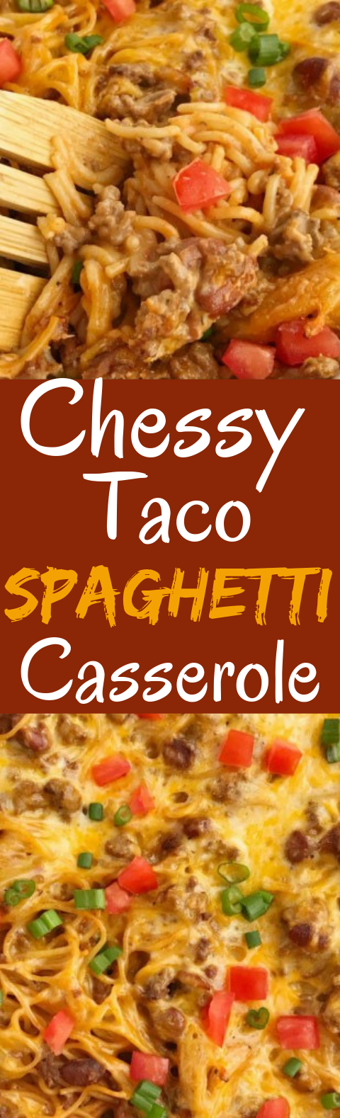 Cheesy Taco Spaghetti Casserole #dinner #casserole