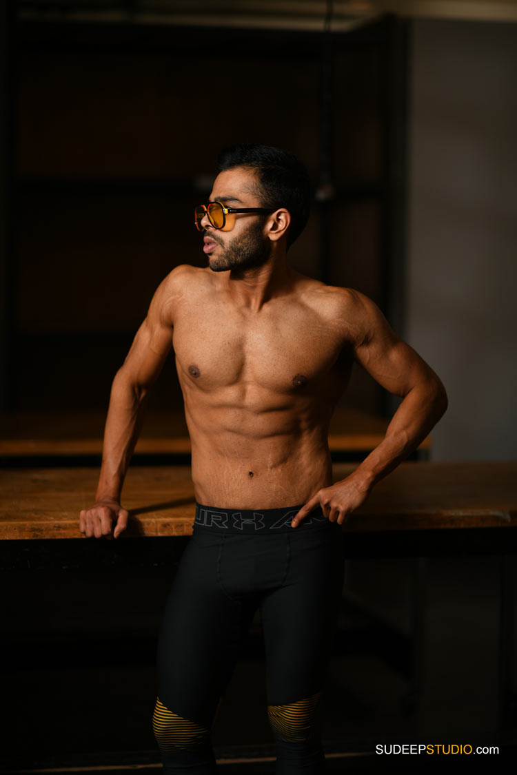 Professional Body Building Fitness Photography Indian Male Model Portfolio SudeepStudio.com Ann Arbor Photographer