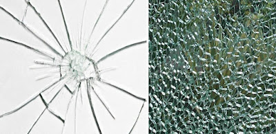 How Ordinary Glass Breaks and Tempered Does
