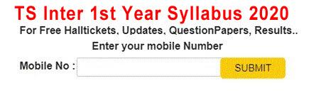 TS Inter 1st Year Syllabus 2020